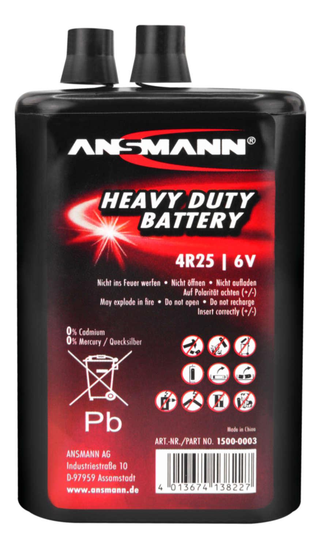 Zink-Kohle Batterie 4R25