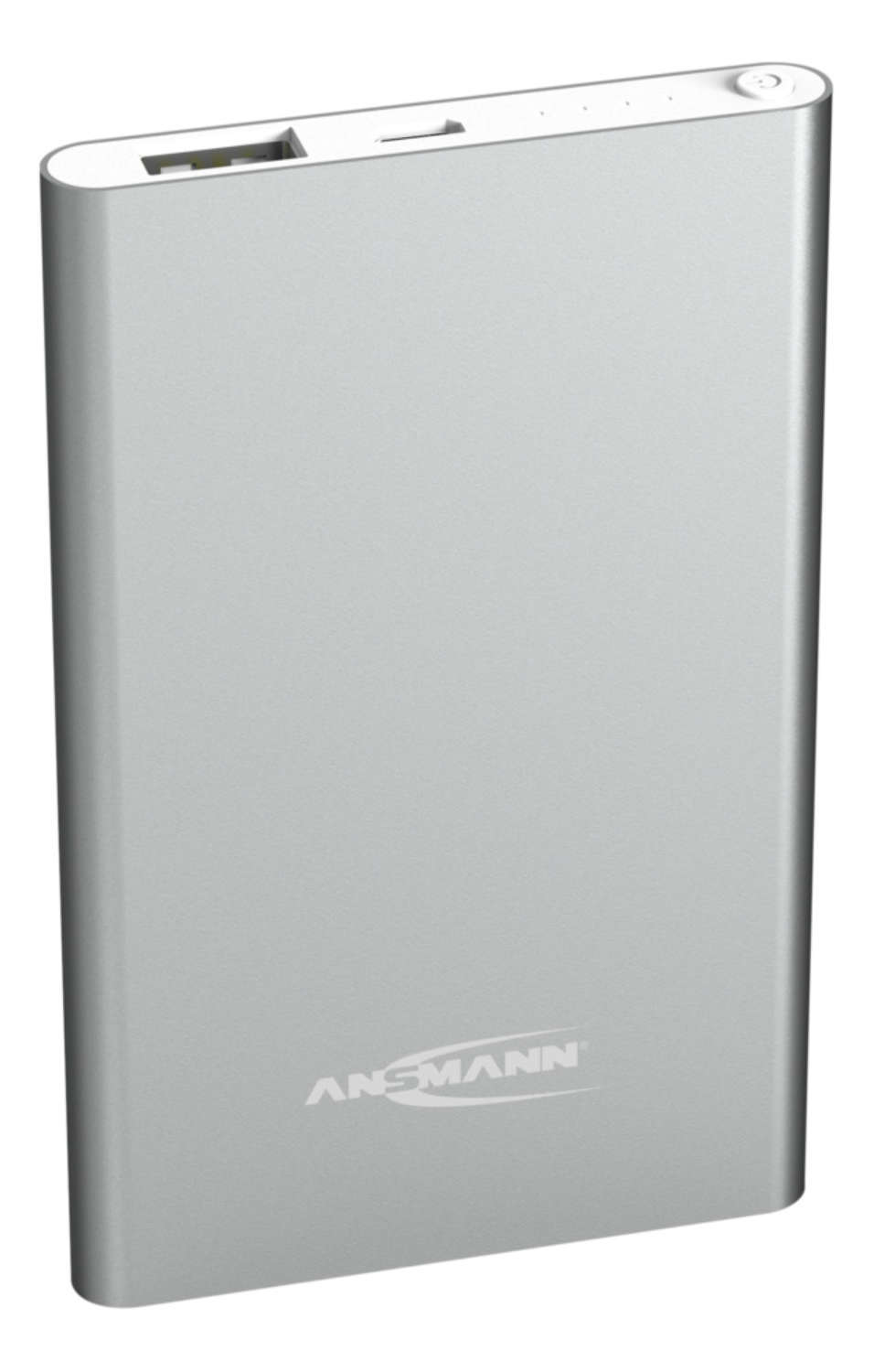 Powerbank 4 Ah, silver coloured