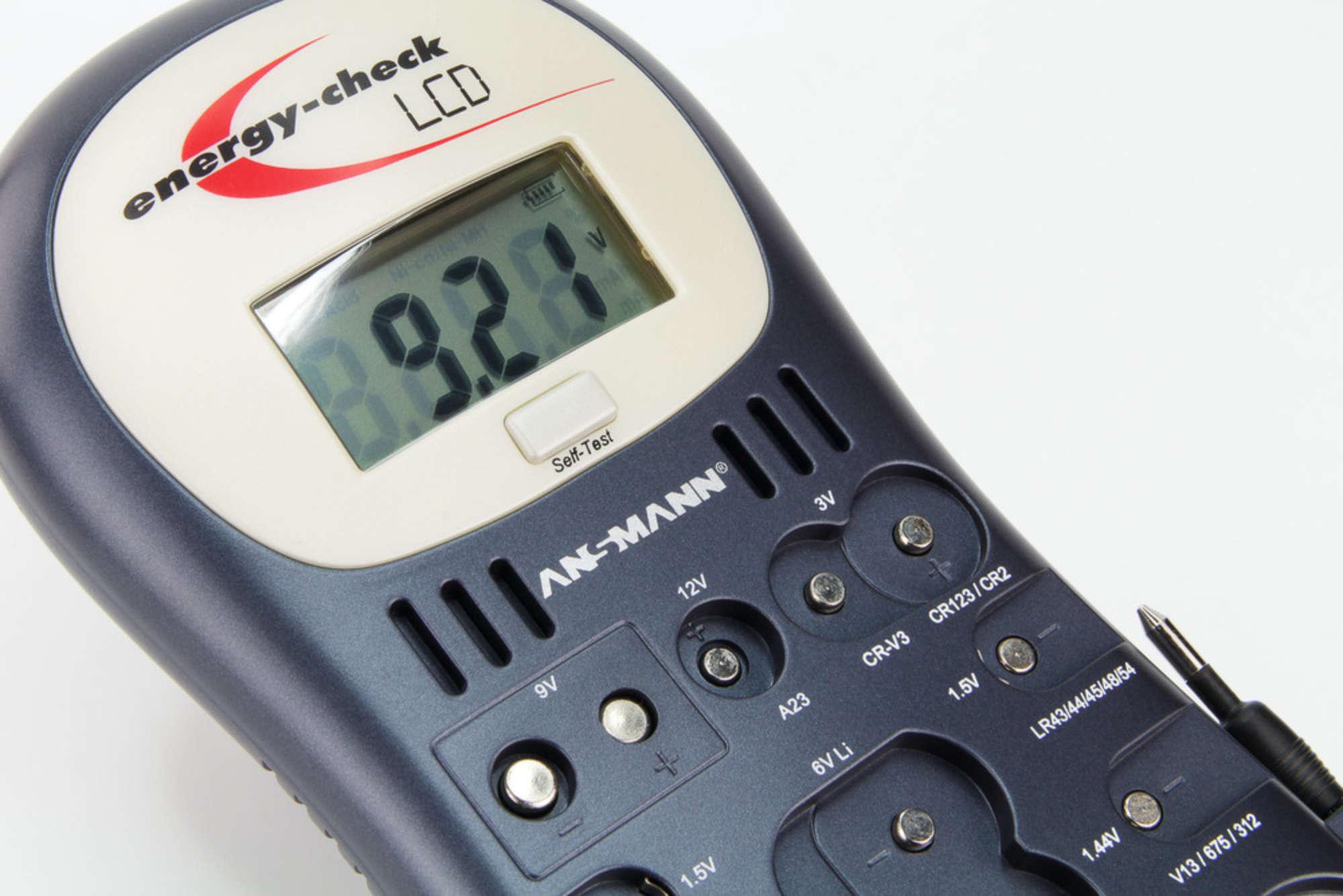 Battery Tester Energy Check LCD