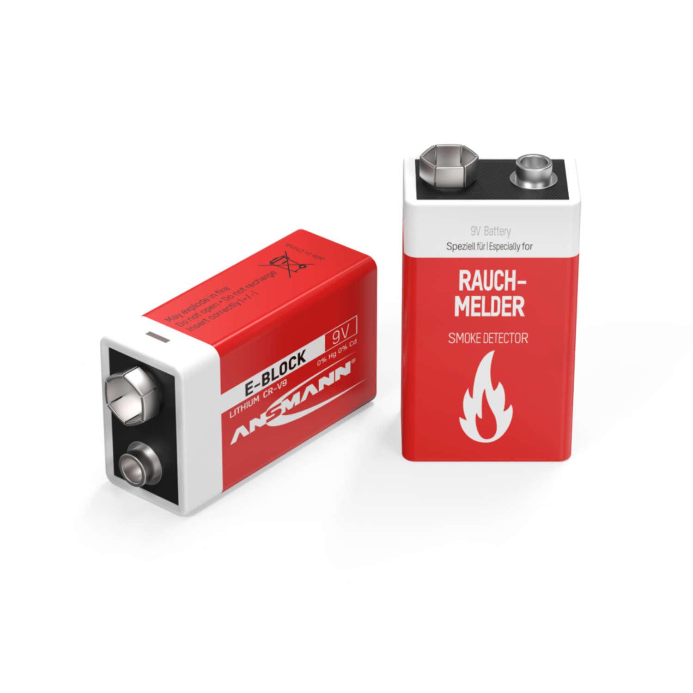 10-Jahres Batterie für Rauchmelder 9V Lithium E-Block