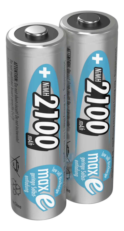 NiMH Rechargeable battery AA / HR6 2100 mAh maxE 2 pcs.