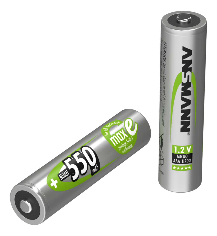 NiMH Akku Micro AAA 550 mAh maxE 4er Blister