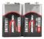 Alkaline Batterie Block E / 6LR61 2er Schrumpffolie