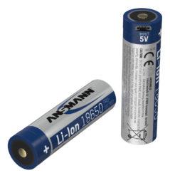 Li-Ion battery 18650 2600 mAh with Micro-USB charging socket