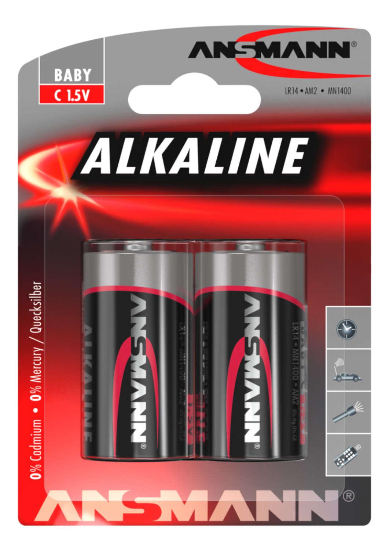 Alkaline Battery C / LR14 2 pcs. blister packaging