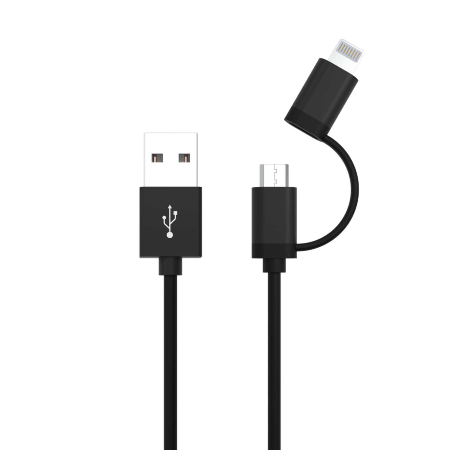 USB 2in1 Micro / Lightning Data and Charging Cable 120 cm