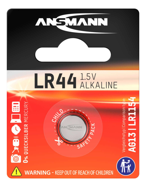 Alkaline Knopfzelle LR44 / LR1154 / AG13