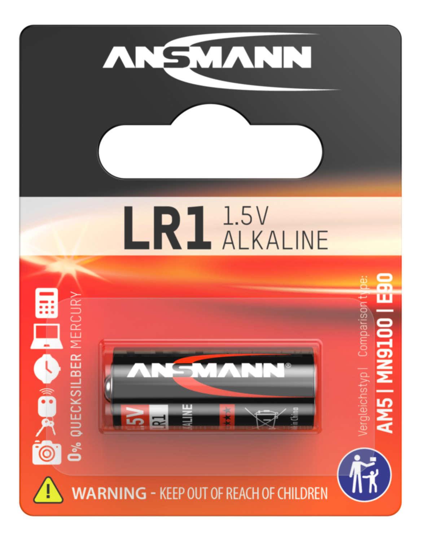 Alkaline Coin cell LR1