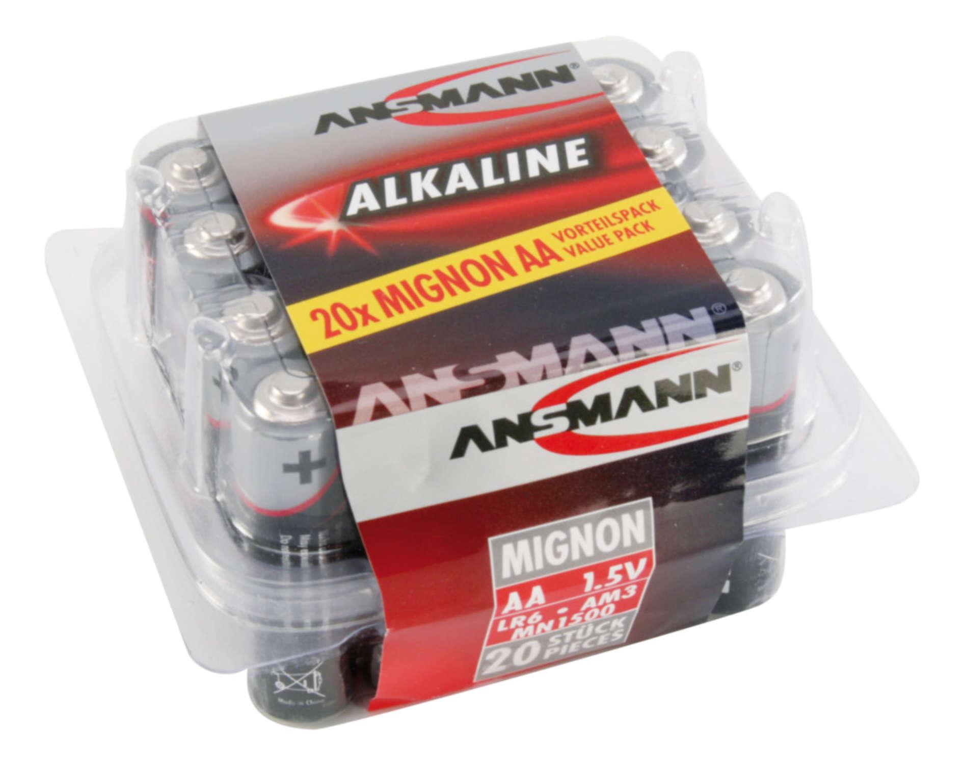 Alkaline Batterie Mignon AA / LR6 20er Box