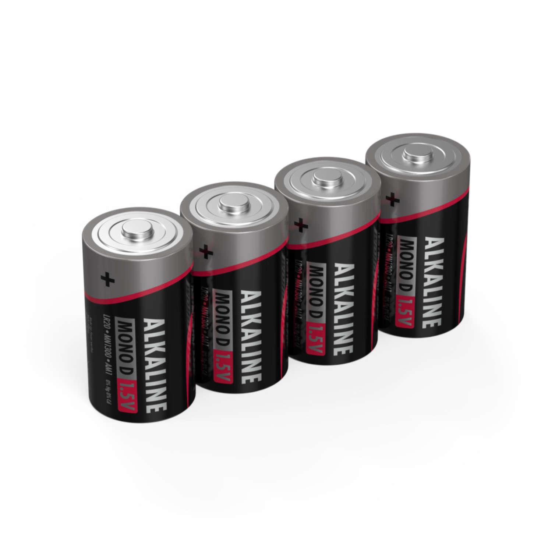 Alkaline Batterie Mono D / LR20 4 pcs. Krympfilm