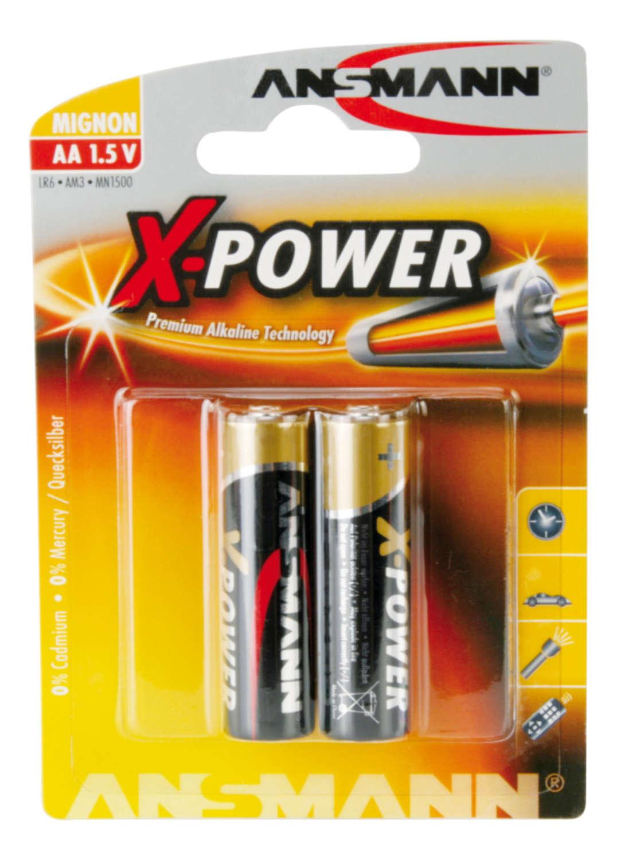 X-Power Alkaline Battery AA / LR6 2 pcs. blister packaging