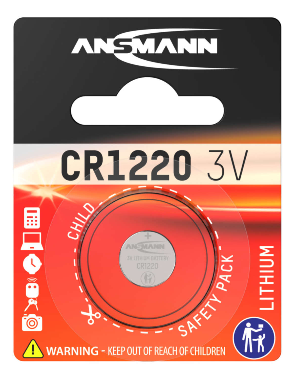 Lithium Knopfzelle CR1220