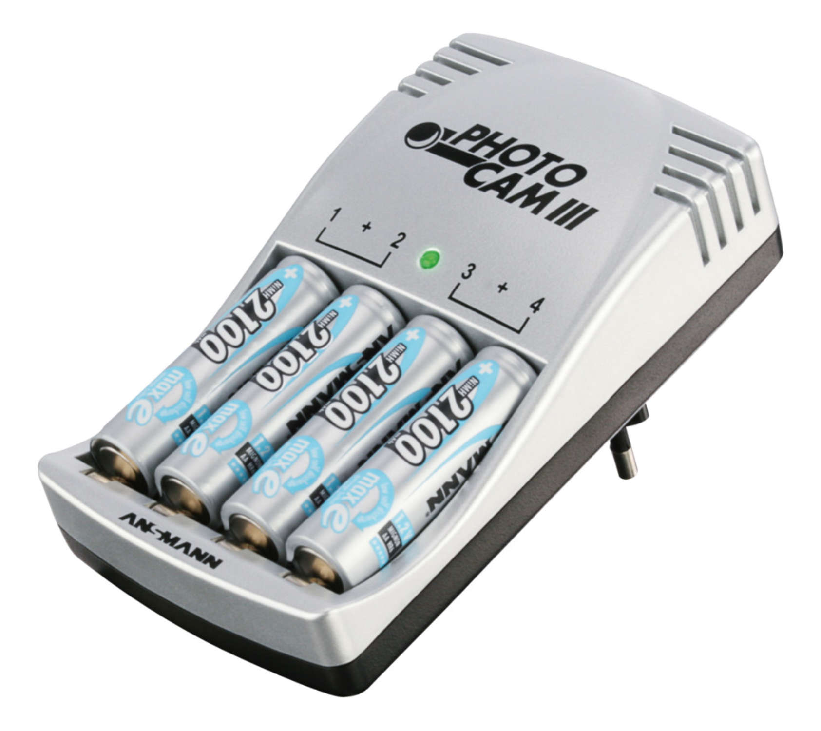 PhotoCam III + 4 Mignon AA NiMH batteries 2100mAh maxE