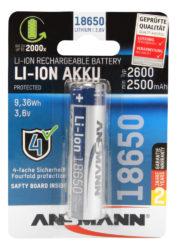 Li-Ion battery 18650 2600 mAh