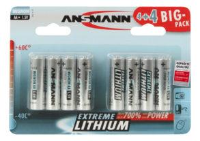 Lithium Batterie Mignon AA / FR6 8er Blister