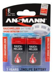 Batterie für Rauchmelder - Alkaline 9V EBlock, 2er Blister