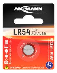 alkaliset Knopfzelle LR54 / LR1130 / AG10