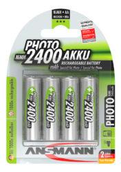Photo NiMH Akku Mignon AA 2400 mAh 4er Blister