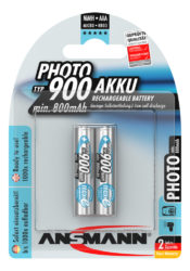 Photo NiMH Akku Micro AAA Typ 900 (min. 800 mAh) maxE 2er Blister