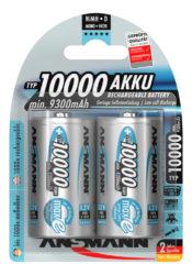NiMH Akku Mono D Typ 10000 (min. 9300 mAh) maxE 2er Blister