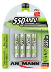 NiMH Pile rechargeable Micro AAA 550 mAh maxE 4 pcs.