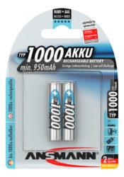 NiMH Ackumulator Micro AAA Typ 1000 (min. 950 mAh) 2 stycken blisterförpackning