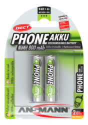 Dect NiMH Rechargeable battery AA / HR6 800 mAh maxE 2 pcs.