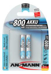 NiMH Ackumulator Micro AAA 800 mAh maxE 2 pcs.