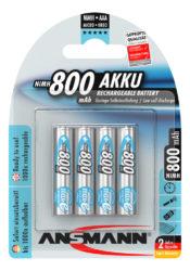 NiMH Ackumulator Micro AAA 800 mAh maxE 4 pcs.