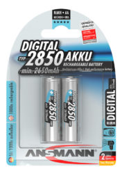 Digital NiMH Pile rechargeable Mignon AA Typ 2850 (min. 2650 mAh) 2 pcs. emballage blister
