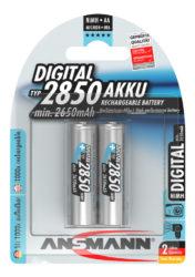 Digital NiMH Akku Mignon AA Typ 2850 (min. 2650 mAh) 2er Blister