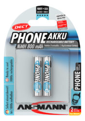 Dect NiMH Pile rechargeable Micro AAA 800 mAh maxE 2 pcs.