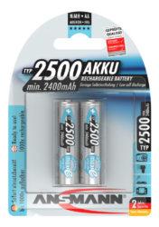 NiMH Rechargeable battery AA / HR6 Typ 2500 (min. 2400 mAh) maxE 2 pcs.