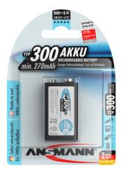 NiMH Ackumulator 9V E-Block Typ 300 (min. 270 mAh) maxE 1 pcs.