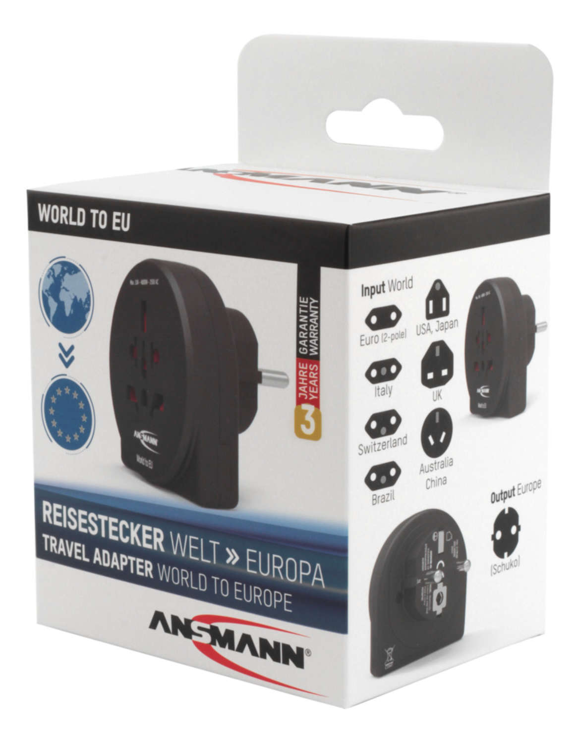Travel plug 'World to EU'