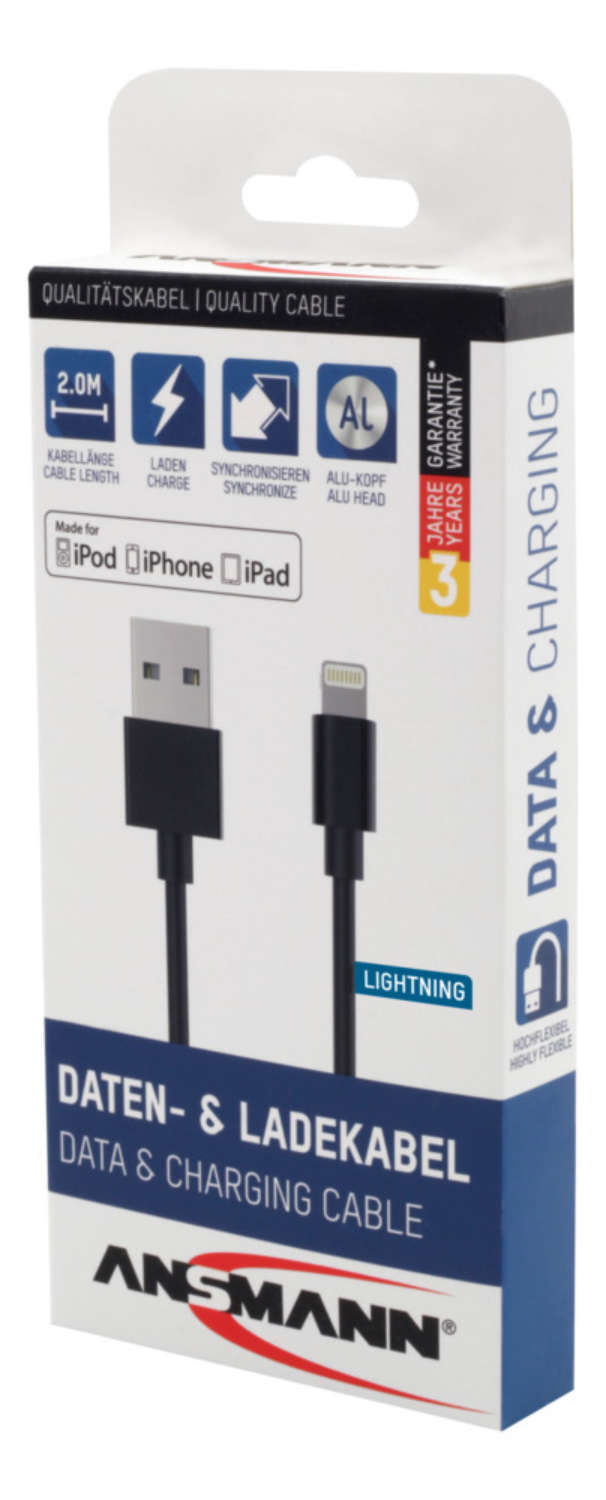 Lightning Data and Charging Cable 200 cm