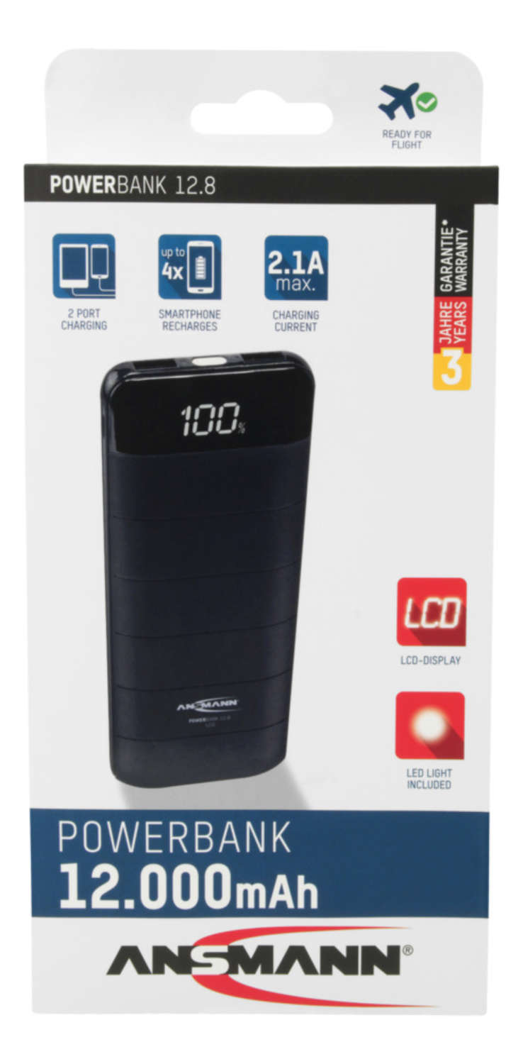 Powerbank 12.8 LCD
