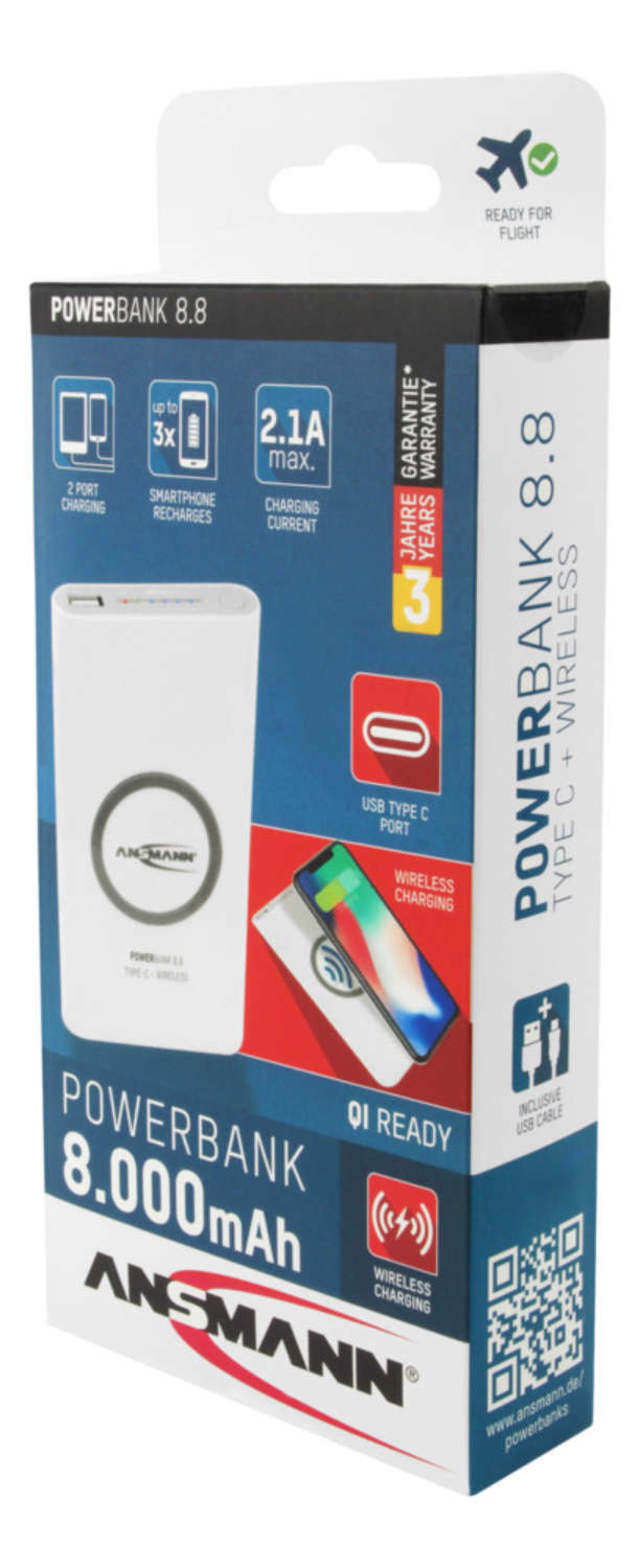 Powerbank 8.8 Type C - Wireless