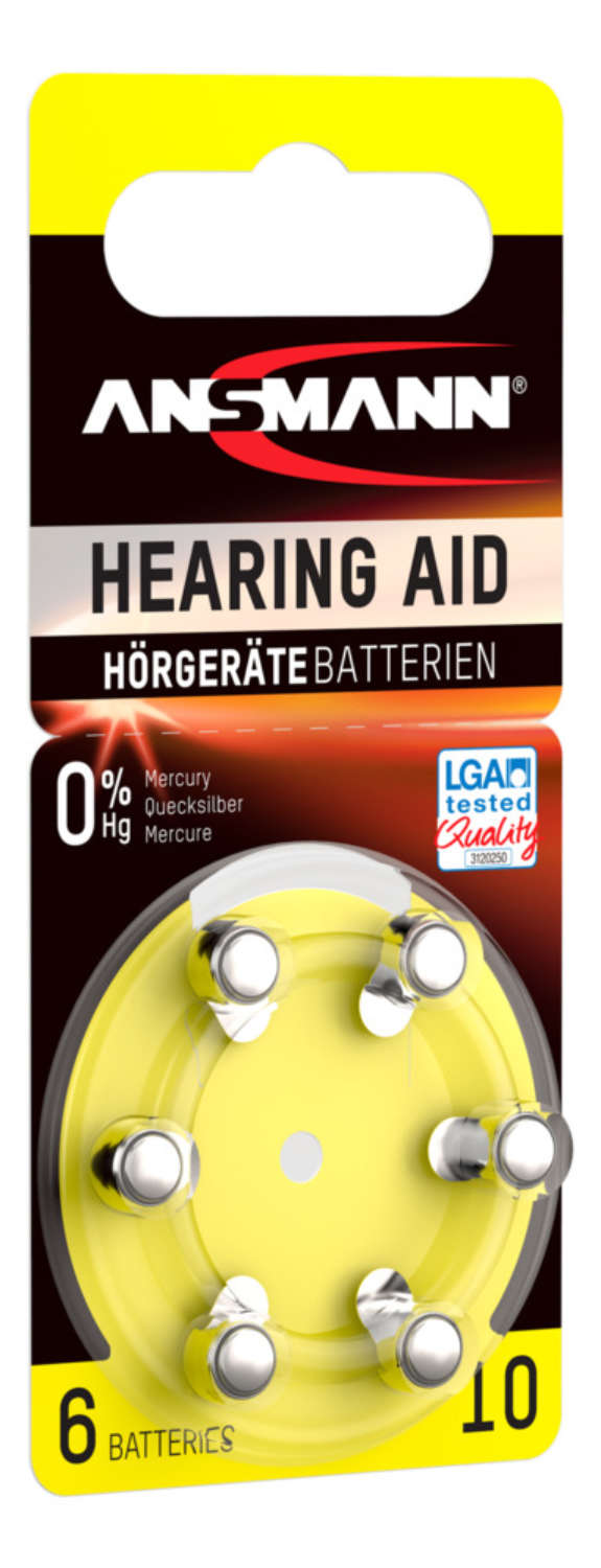 Hearing Aid batteries Type 10 / PR70