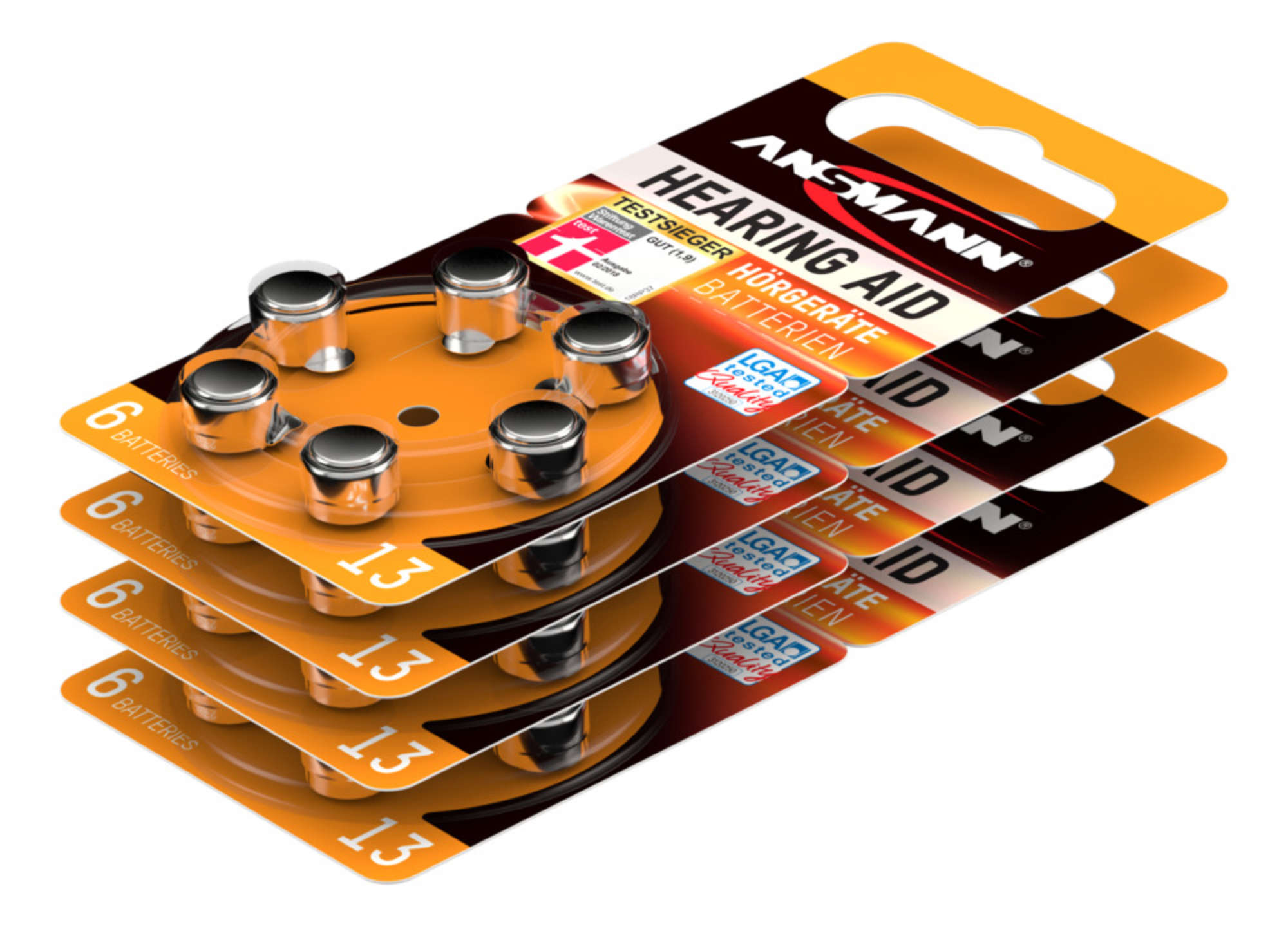 Hörgerätebatterien Typ 13 / PR48