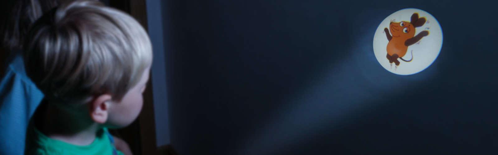 """Projektionstaschenlampe """"Die Maus"""" blau"""